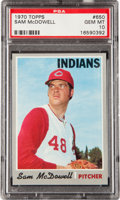 Baseball Cards:Singles (1970-Now), 1970 Topps Sam McDowell #650 PSA Gem Mint 10....