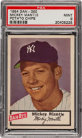 Baseball Cards:Singles (1950-1959), 1954 Dan-Dee Potato Chips Mickey Mantle PSA Mint 9! ...