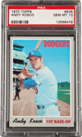 Baseball Cards:Singles (1970-Now), 1970 Topps Andy Kosco #535 PSA Gem Mint 10....