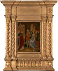 Fine Art - Painting, European:Antique  (Pre 1900), THE SPANISH FORGER (French, 19th/20th century). The Betrothal ofSaint Ursula, circa 1890. Oil on oak panel presented in...(Total: 2 Items)