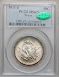 Commemorative Silver, 1936-D 50C Texas MS67+ PCGS. CAC....