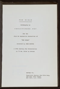 """The Bible (20th Century Fox, 1966). Script (114 Pages, 8.5"""" X 11""""). Drama"""