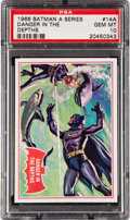 Non-Sport Cards:Singles (Post-1950), 1966 Topps Batman - Red Bat #14A PSA Gem Mint 10 - Pop One! ...