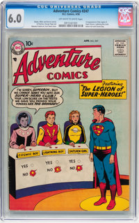 Adventure Comics #247 (DC, 1958) CGC FN 6.0 Off-white to white pages