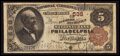 National Bank Notes:Pennsylvania, Philadelphia, PA - $5 1882 Brown Back Fr. 467 The Farmers &Mechanics NB Ch. # 538. ...