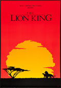 """Movie Posters:Animation, The Lion King (Buena Vista, 1994). International One Sheet (27"""" X 40"""") SS, Advance. Animation.. ..."""