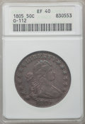Early Half Dollars, 1805 50C XF40 ANACS. O-112, R.2....