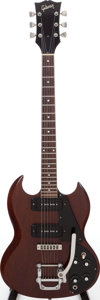 Musical Instruments:Electric Guitars, 1972 Gibson SG Pro Walnut Solid Body Electric Guitar, Serial #612693....