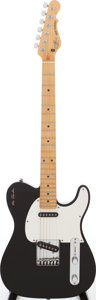 Musical Instruments:Electric Guitars, 1991 G&L ASAT Black Solid Body Electric Guitar, Serial # 0028556....