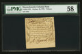 Colonial Notes:Massachusetts, Massachusetts October 16, 1778 3d PMG Choice About Unc 58.. ...