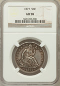 Seated Half Dollars: , 1877 50C AU58 NGC. NGC Census: (33/180). PCGS Population (24/170).Mintage: 8,304,510. Numismedia Wsl. Price for problem fr...