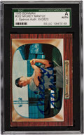 Baseball Cards:Singles (1950-1959), Signed 1955 Bowman Mickey Mantle #202 JSA Authentic. ...