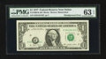 Error Notes:Shifted Third Printing, Fr. 1909-K $1 1977 Federal Reserve Note. PMG Choice Uncirculated 63 EPQ.. ...