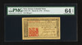Colonial Notes:New Jersey, New Jersey March 25, 1776 18d PMG Choice Uncirculated 64 EPQ.. ...
