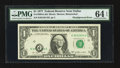 Error Notes:Shifted Third Printing, Fr. 1909-K $1 1977 Federal Reserve Note. PMG Choice Uncirculated 64 EPQ.. ...