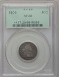 Early Dimes, 1805 10C 4 Berries VF20 PCGS. JR-2, R.2....