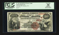 National Bank Notes:Wyoming, Cheyenne, WY - $10 1882 Brown Back Fr. 484 The First NB Ch. # (W)1800. ...