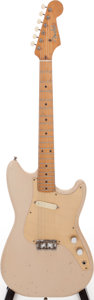 Musical Instruments:Electric Guitars, 1958 Fender Musicmaster Desert Sand Solid Body Electric Guitar, Serial # 30084....