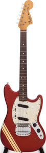 Musical Instruments:Electric Guitars, 1971 Fender Mustang Competition Red Solid Body Electric Guitar,Serial # 329622....