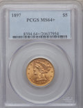 Liberty Half Eagles, 1897 $5 MS64+ PCGS....