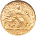 Commemorative Gold, 1915-S $2 1/2 Panama-Pacific Quarter Eagle MS66 NGC. CAC....