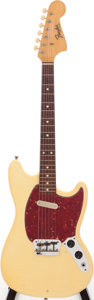 Musical Instruments:Electric Guitars, 1965 Fender Musicmaster II Olympic White Solid Body electricGuitar, Serial # L80543. ...