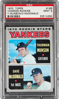 Baseball Cards:Singles (1970-Now), 1970 Topps Yankees Thurman Munson Rookie #189 PSA Mint 9 - Only TwoHigher. ...