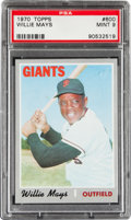 Baseball Cards:Singles (1970-Now), 1970 Topps Willie Mays #600 PSA Mint 9....