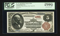 National Bank Notes:New York, New York, NY - $5 1882 Brown Back Fr. 472 The NB of North America Ch. # 4581. ...