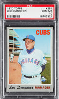 Baseball Cards:Singles (1970-Now), 1970 Topps Leo Durocher #291 PSA Gem Mint 10....