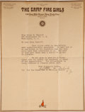 Basketball Collectibles:Others, 1915 Luther Gulick Signed Letter--Catalyst for Invention ofBasketball....