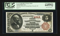 Plymouth, MI - $5 1882 Brown Back Fr. 472 The First National Exchange Bank Ch. # 4649