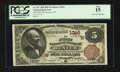 National Bank Notes:Colorado, Denver, CO - $5 1882 Brown Back Fr. 467 The First NB Ch. # (W)1016....