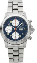 Timepieces:Wristwatch, Maurice Lacroix Ref. 9215 Unused Steel Automatic Chronograph. ...