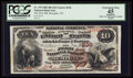 National Bank Notes:Tennessee, Memphis, TN - $10 1882 Brown Back Fr. 479 The First NB Ch. # 336....