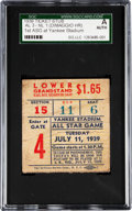 Baseball Collectibles:Tickets, 1939 All-Star Game Ticket Stub....
