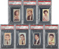 "Non-Sport Cards:Lots, 1955 Barbers Tea ""Cinema & TV Stars"" PSA Mint 9 Collection (7). ..."