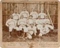 Baseball Collectibles:Photos, 1894 Scranton Indians Team Cabinet Photograph....