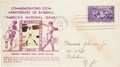 Baseball Collectibles:Others, 1939 Baseball Hall of Fame First Day Cover....