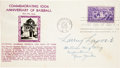 Autographs:Others, 1939 Napoleon Lajoie Signed Baseball Hall of Fame First Day Cover....