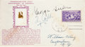 Autographs:Others, 1939 Ty Cobb & George Sisler Signed Baseball Hall of Fame First Day Cover....