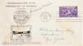 Baseball Collectibles:Others, 1939 Baseball Hall of Fame First Day Cover, Signed by JimmieWilson....