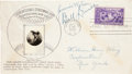 Baseball Collectibles:Others, 1939 Baseball Hall of Fame First Day Cover, Signed by Wilson,Dineen....