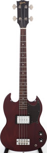 Musical Instruments:Electric Guitars, 1973 EB-0 Cherry Electric Bass Guitar, Serial # 101756....