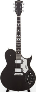 Musical Instruments:Electric Guitars, 1979 Gretsch Model 7681 Super Axe Green/Ebony Semi-Hollow BodyElectric Guitar, Serial # 7-9178....