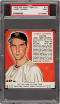 Baseball Cards:Singles (1950-1959), 1952 Red Man Larry Jansen #10N PSA Mint 9 - Pop One, None Higher....