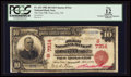 National Bank Notes:Tennessee, Tracy City, TN - $10 1902 Red Seal Fr. 613 The First NB Ch. #(S)7314. ...