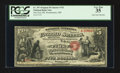 National Bank Notes:Maryland, Westminster, MD - $5 Original Fr. 397 The First NB Ch. # 742. ...