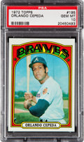 Baseball Cards:Singles (1970-Now), 1972 Topps Orlando Cepeda #195 PSA Gem Mint 10 - Pop Two! ...