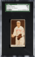 Baseball Cards:Singles (Pre-1930), 1912 T207 Brown Background Irving Lewis, With Emblem SGC 40 VG3....